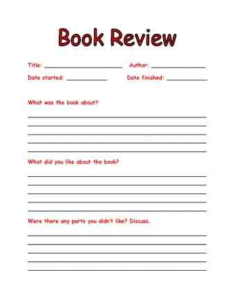 Write me a book review for college