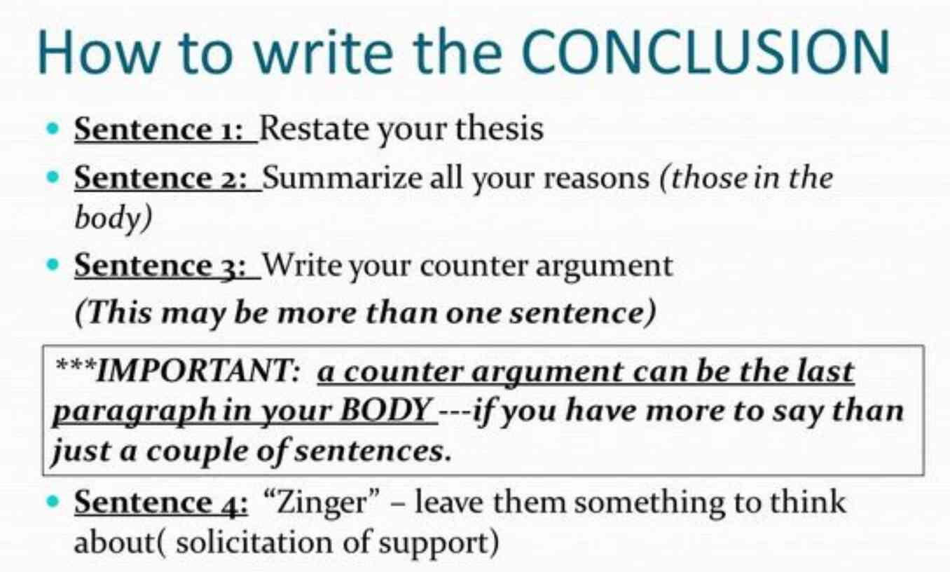 How To Write A Conclusion For A Paper