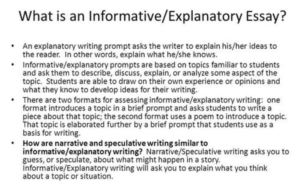 What is explanatory essay